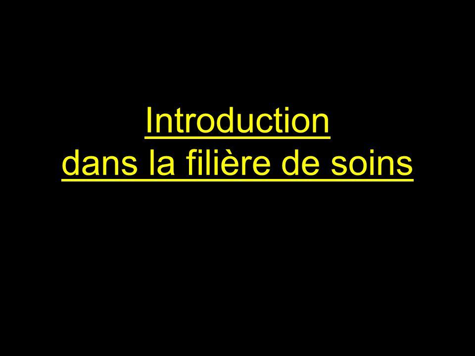 Introduction dans la filière de soins