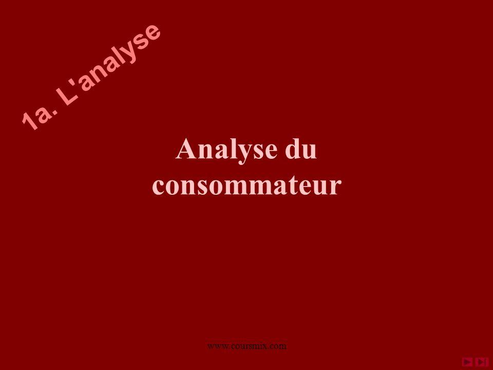 www.coursmix.com Analyse du consommateur 1a. L'analyse