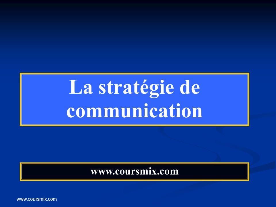 www.coursmix.com La stratégie de communication www.coursmix.com