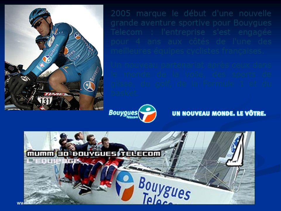 www.coursmix.com 2005 marque le début d'une nouvelle grande aventure sportive pour Bouygues Telecom : l'entreprise s'est engagée pour 4 ans aux côtés