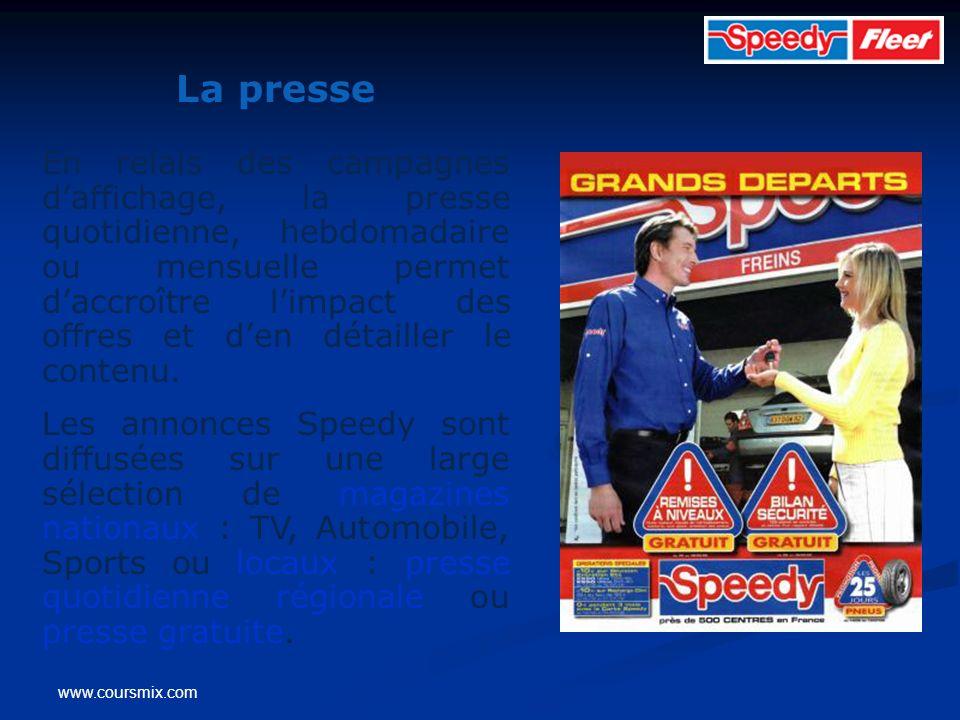 www.coursmix.com La presse En relais des campagnes daffichage, la presse quotidienne, hebdomadaire ou mensuelle permet daccroître limpact des offres e