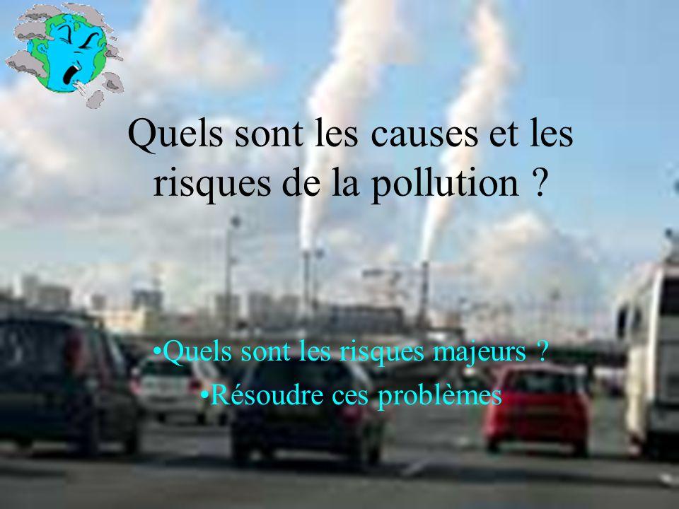 Quels sont les causes et les risques de la pollution ? Quels sont les risques majeurs ? Résoudre ces problèmes