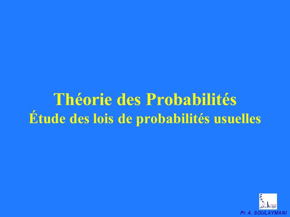 Variables Aléatoires & Lois de Probabilités Usuelles