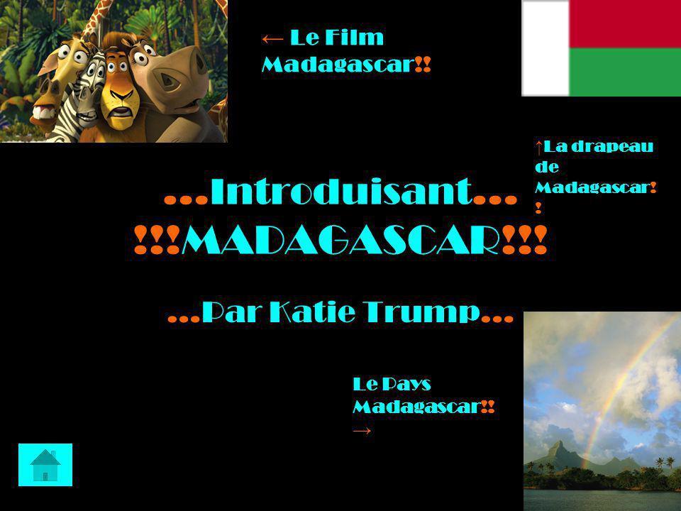 … Introduisant … !!!MADAGASCAR!!! …Par Katie Trump… Le Film Madagascar!! Le Pays Madagascar!! La drapeau de Madagascar! !