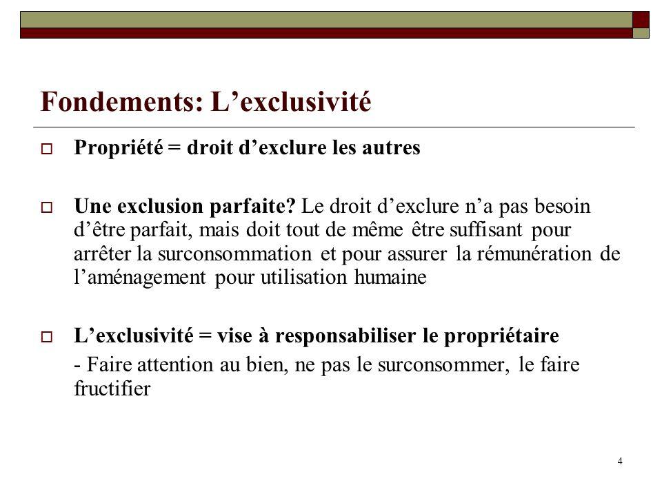 La propriété commune Définition: Des biens appartenant à une collectivité - Ex.