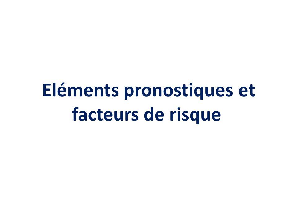 Eléments pronostiques et facteurs de risque