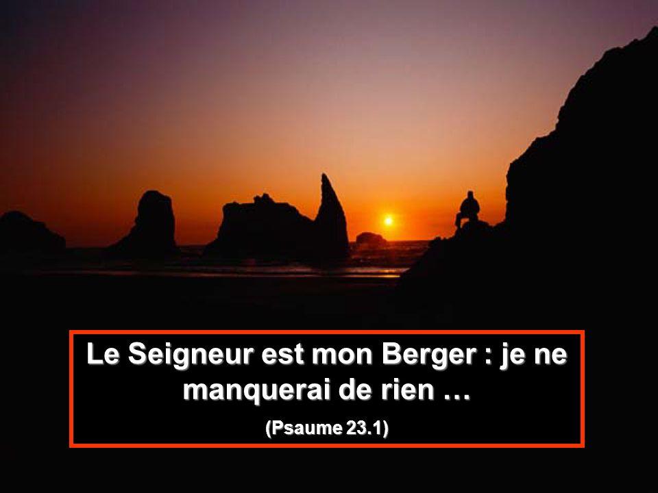 Le Seigneur est mon Berger : je ne manquerai de rien … (Psaume 23.1)