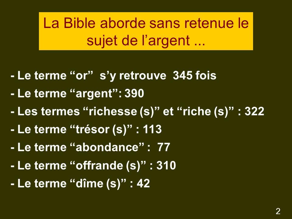 La loi sur la dîme nest pas réitérée formellement dans le Nouveau Testament, mais les exigences de la grâce surpassent toujours les exigences de la loi de lAncien Testament 13