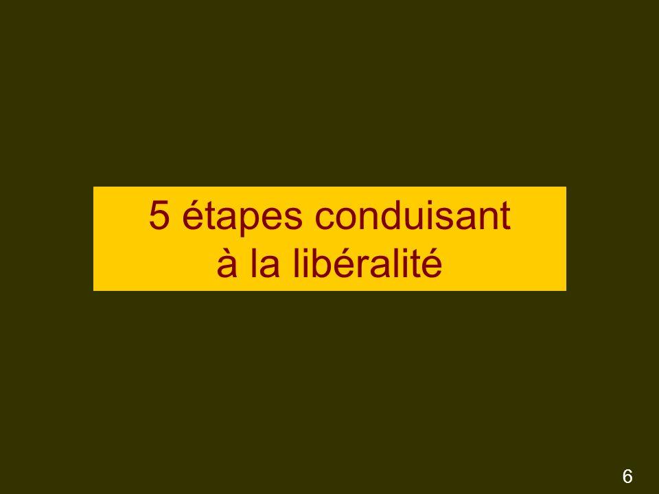 5 étapes conduisant à la libéralité 6