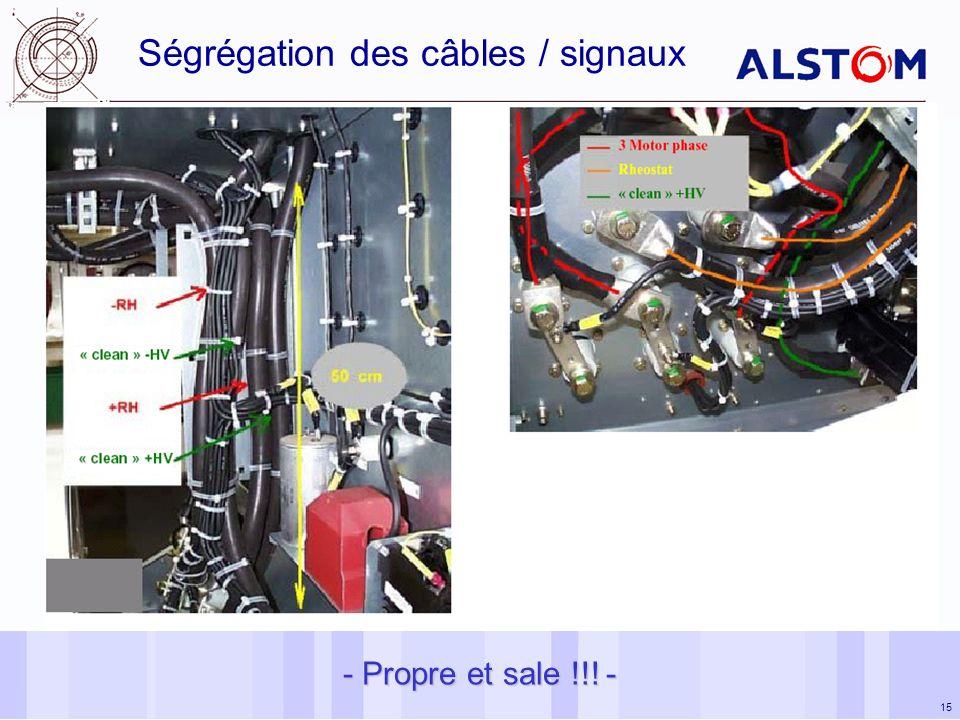 15 - Propre et sale !!! - Ségrégation des câbles / signaux