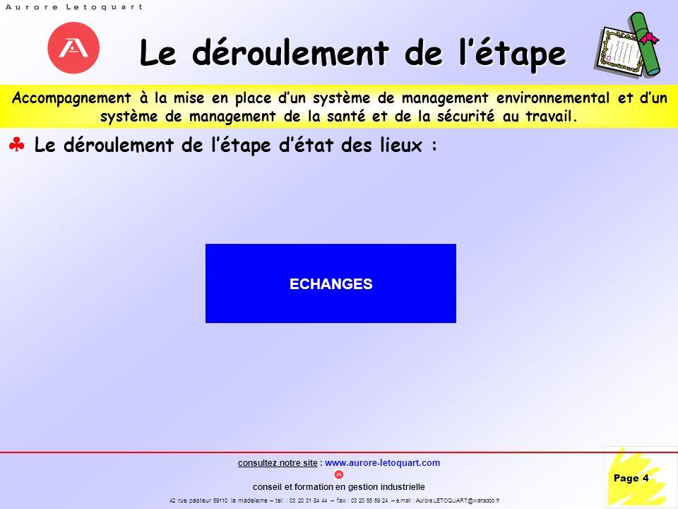 consultez notre site : www.aurore-letoquart.com conseil et formation en gestion industrielle 42 rue pasteur 59110 la madeleine – tel.