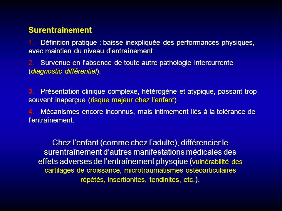 3. Présentation clinique complexe, hétérogène et atypique, passant trop souvent inaperçue (risque majeur chez lenfant). 4.Mécanismes encore inconnus,