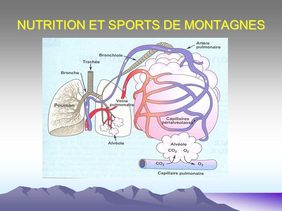 NUTRITION ET SPORTS DE MONTAGNES