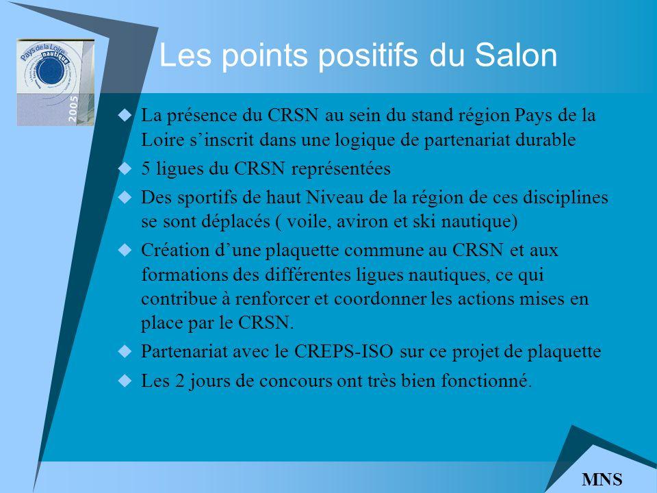 Les points positifs du Salon La présence du CRSN au sein du stand région Pays de la Loire sinscrit dans une logique de partenariat durable 5 ligues du