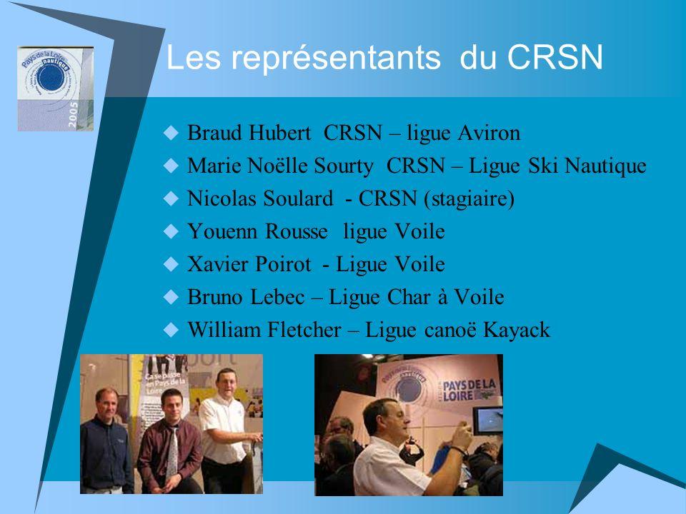 Les représentants du CRSN Braud Hubert CRSN – ligue Aviron Marie Noëlle Sourty CRSN – Ligue Ski Nautique Nicolas Soulard - CRSN (stagiaire) Youenn Rou