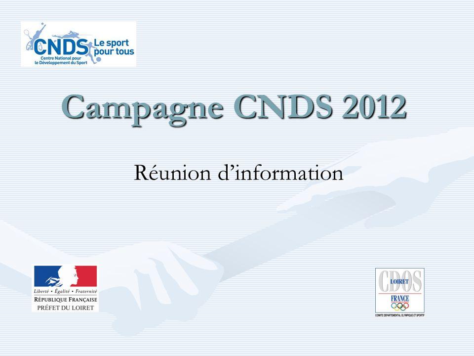 Campagne CNDS 2012 Réunion dinformation