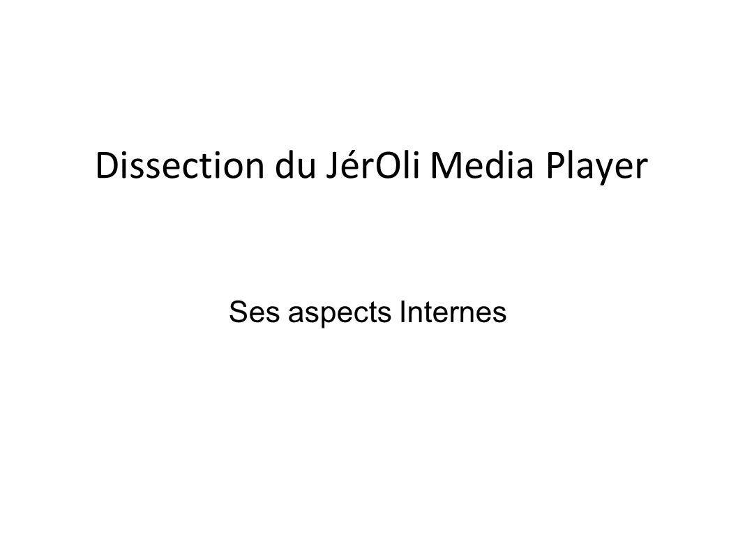 Dissection du JérOli Media Player Ses aspects Internes