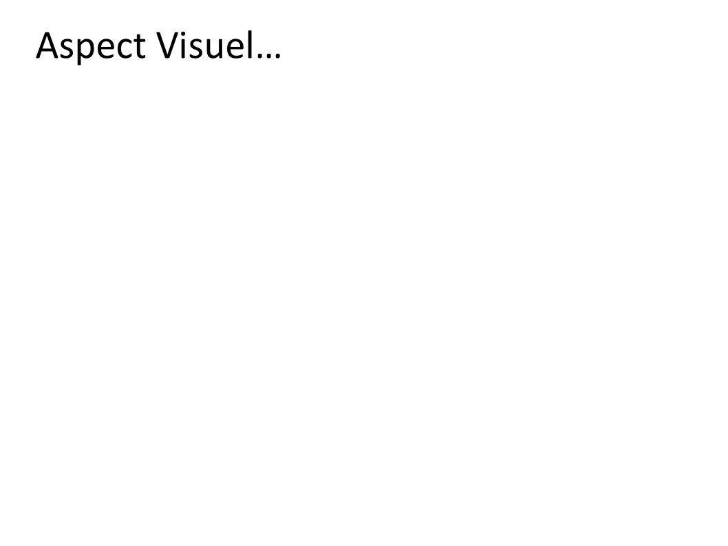 Aspect Visuel…
