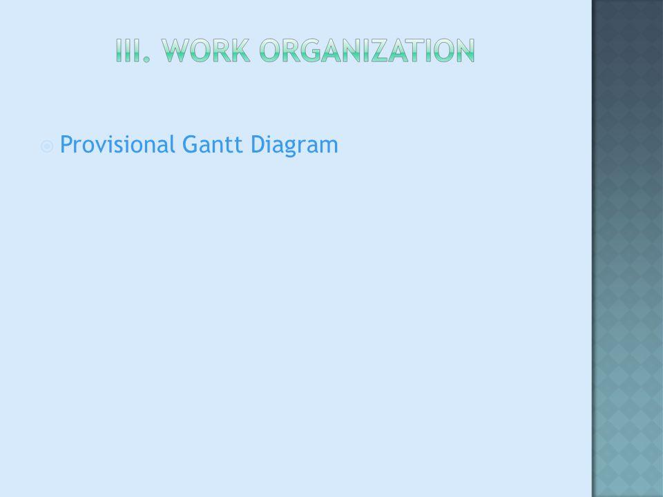 Provisional Gantt Diagram