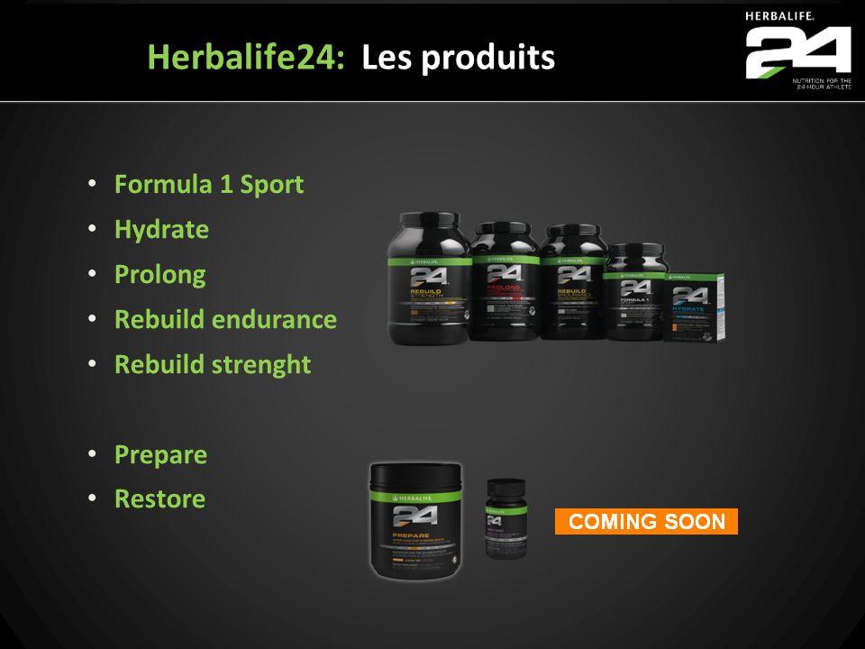 Formula 1 Sport Hydrate Prolong Rebuild endurance Rebuild strenght Prepare Restore Herbalife24: Les produits