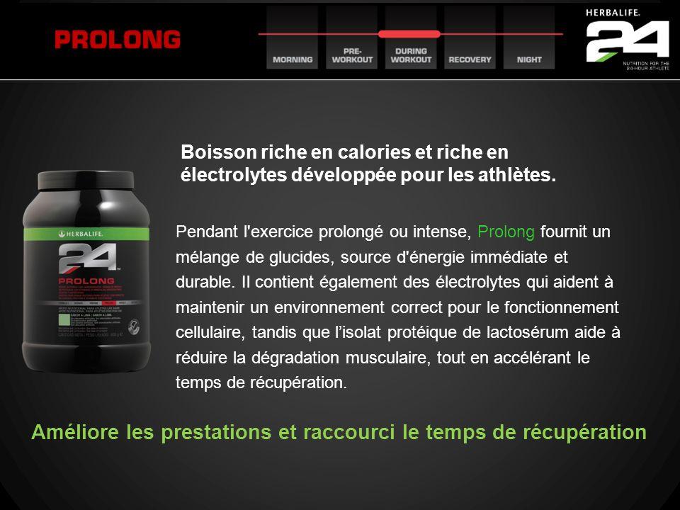 Pendant l'exercice prolongé ou intense, Prolong fournit un mélange de glucides, source d'énergie immédiate et durable. Il contient également des élect