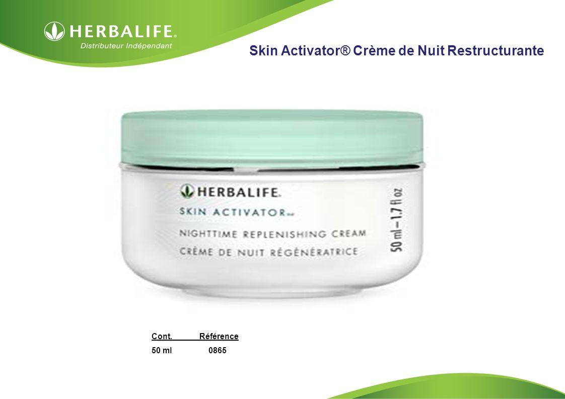 HOM, Septembre 2009 Skin Activator® Crème de Nuit Restructurante Cont.Référence 50 ml 0865