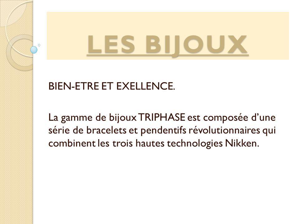 LES BIJOUX BIEN-ETRE ET EXELLENCE. La gamme de bijoux TRIPHASE est composée dune série de bracelets et pendentifs révolutionnaires qui combinent les t