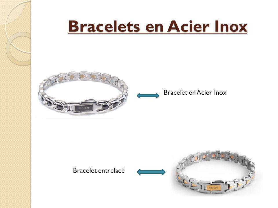 Bracelets en Acier Inox Bracelet en Acier Inox Bracelet entrelacé
