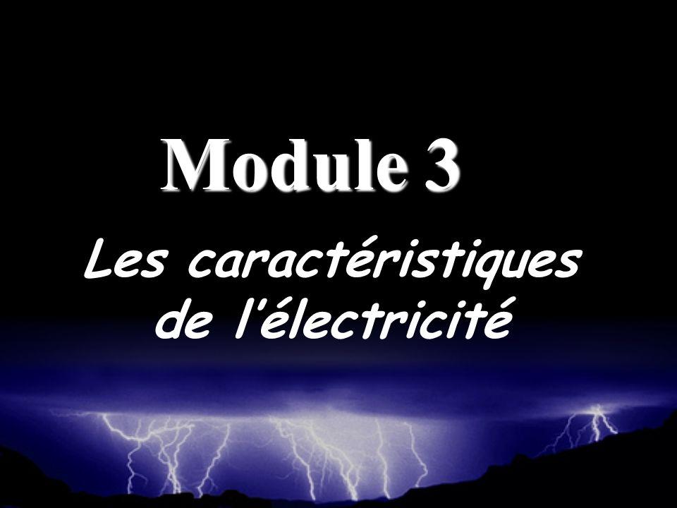 Les caractéristiques de lélectricité Module 3