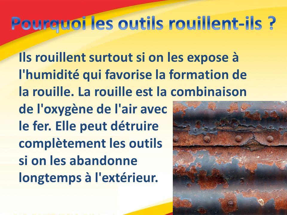A la température ordinaire, le fer se combine à l oxygène de l air pour former de l oxyde de fer.
