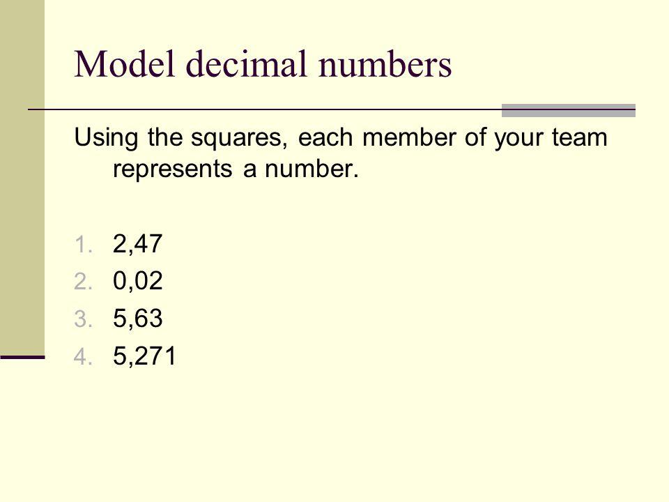 Définition Nombre décimal: Une manière de représenter une partie dun tout à laide des valeurs de position.