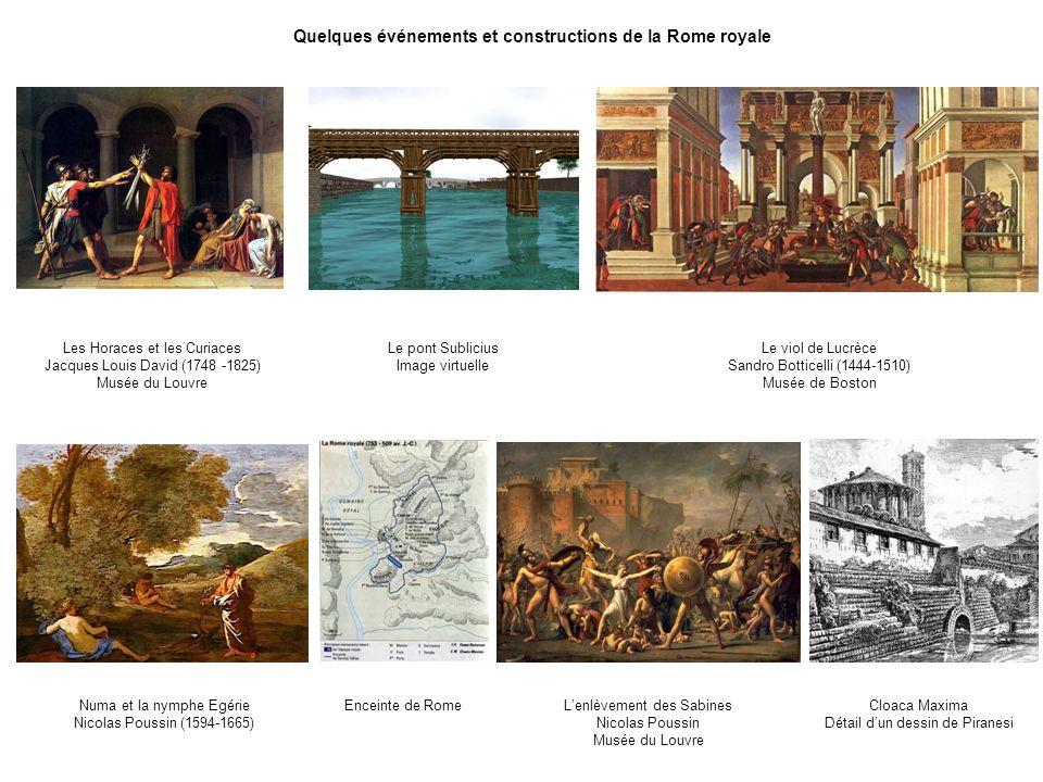 Quelques événements et constructions de la Rome royale Cloaca Maxima Détail dun dessin de Piranesi Lenlèvement des Sabines Nicolas Poussin Musée du Lo