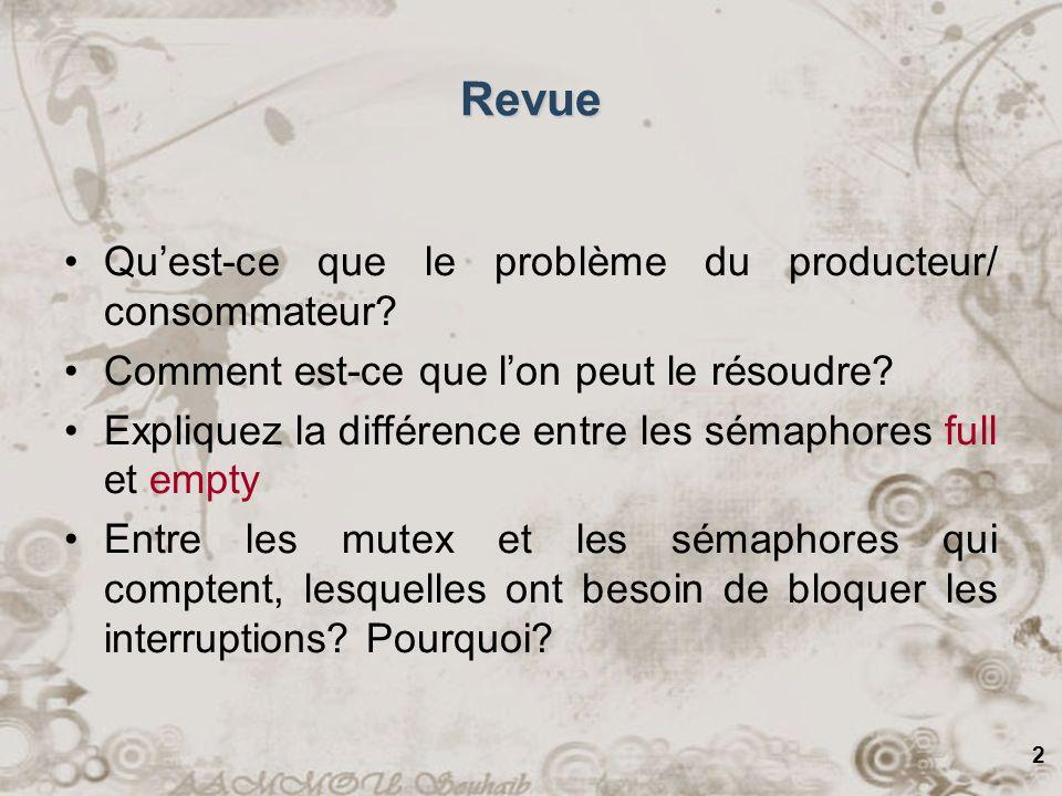 2 Revue Quest-ce que le problème du producteur/ consommateur.