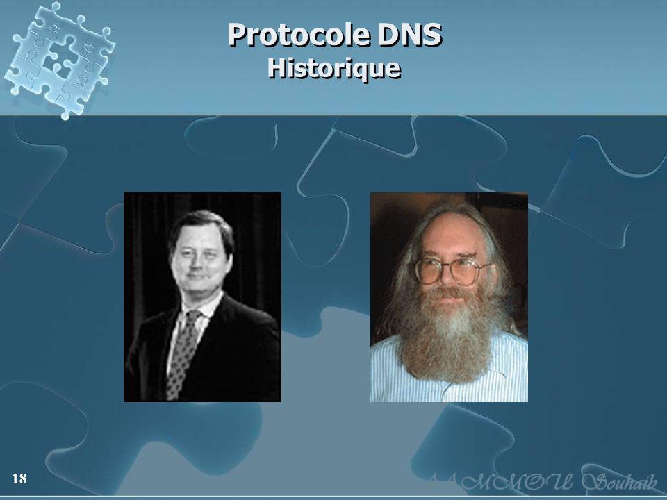 18 Protocole DNS Historique