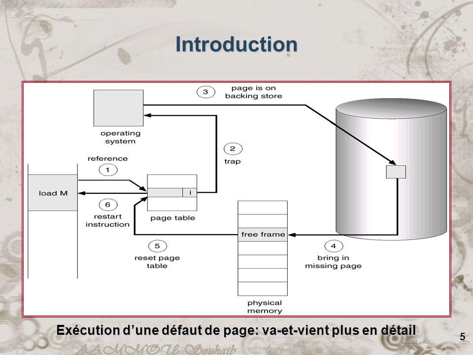 16 Quand un défaut de page arrive, le SE inspecte touts les cadres de pages et les divisent en quatre classes : –Class 0: non référencée, non modifiée.