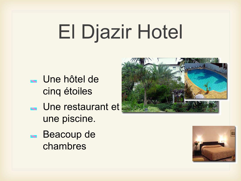 El Djazir Hotel Une hôtel de cinq étoiles Une restaurant et une piscine. Beacoup de chambres