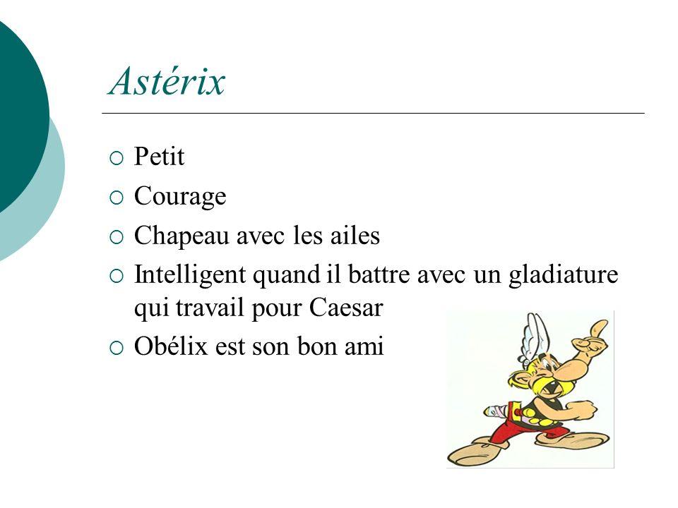 Astérix Petit Courage Chapeau avec les ailes Intelligent quand il battre avec un gladiature qui travail pour Caesar Obélix est son bon ami