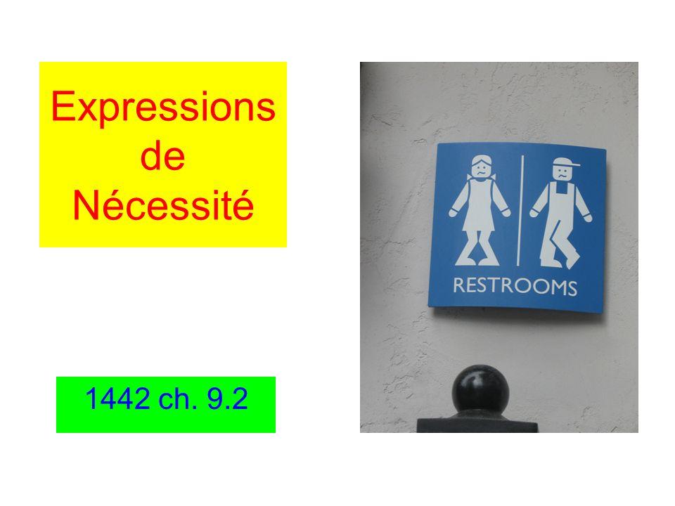 Expressions de Nécessité 1442 ch. 9.2