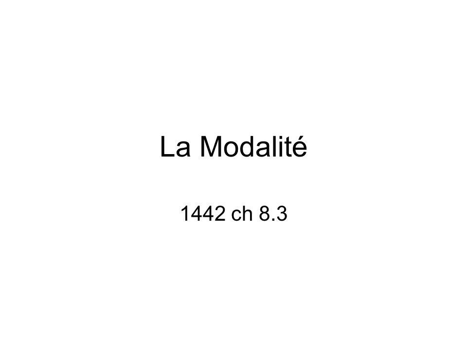 La Modalité 1442 ch 8.3