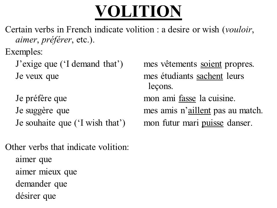 EMOTION Some verbs/expressions convey emotion (anger, fear, joy, sadness, etc.) and are followed by the subjunctive.