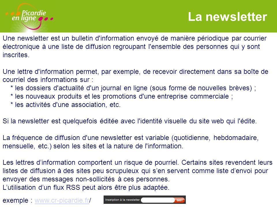LOGO Les flux RSS RSS désigne une famille de formats XML utilisés pour la syndication de contenu Web.