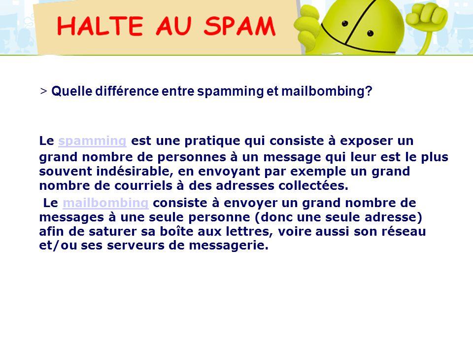 LOGO 27/11/2007 Le spamming est une pratique qui consiste à exposer un grand nombre de personnes à un message qui leur est le plus souvent indésirable
