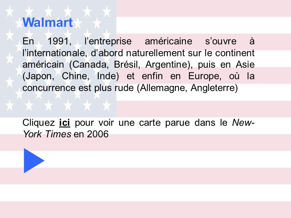 En 1991, lentreprise américaine souvre à linternationale, dabord naturellement sur le continent américain (Canada, Brésil, Argentine), puis en Asie (J