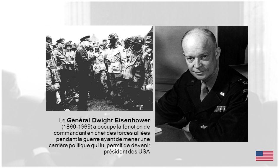 Le Général Dwight Eisenhower (1890-1969) a occupé la fonction de commandant en chef des forces alliées pendant la guerre avant de mener une carrière p