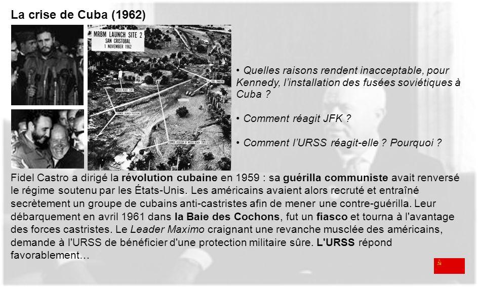Fidel Castro a dirigé la révolution cubaine en 1959 : sa guérilla communiste avait renversé le régime soutenu par les États-Unis. Les américains avaie