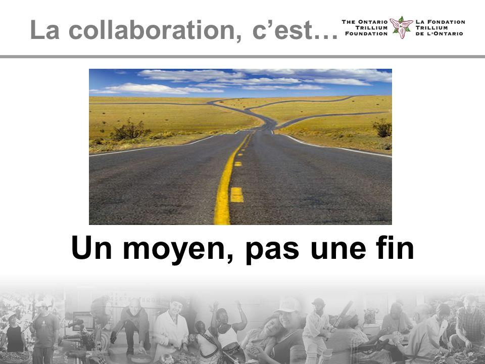 La collaboration, cest… Un moyen, pas une fin