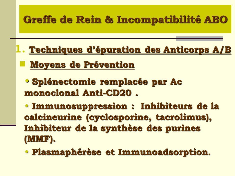 Moyens de Prévention Moyens de Prévention Splénectomie remplacée par Ac monoclonal Anti-CD20. Splénectomie remplacée par Ac monoclonal Anti-CD20. Immu