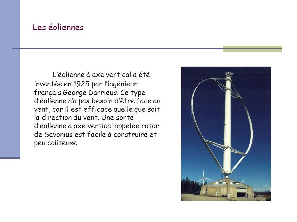 Les éoliennes Les éoliennes modernes sont en acier et en matériaux composites.