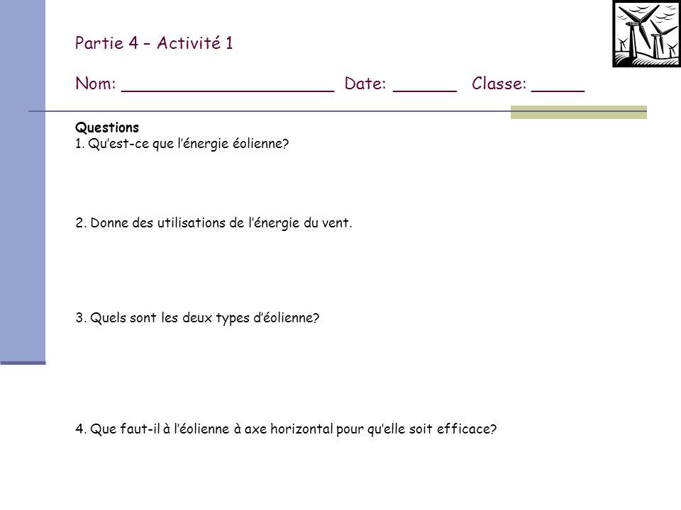 Partie 4 - Activité 1 (suite) 5.