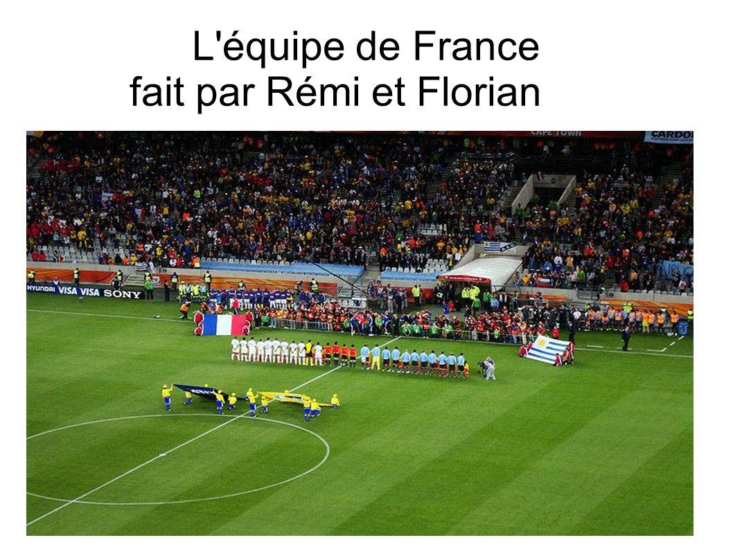 L'équipe de France fait par Rémi et Florian